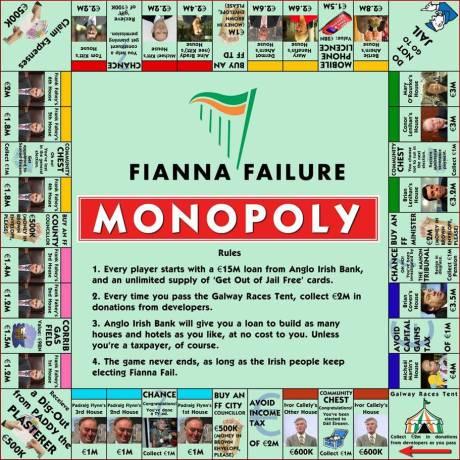 Fianna Fáil Monopoly game