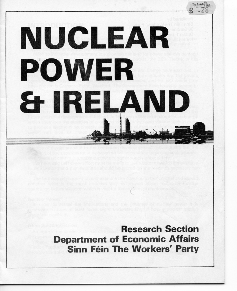 left archive nuclear power ireland research section. Black Bedroom Furniture Sets. Home Design Ideas