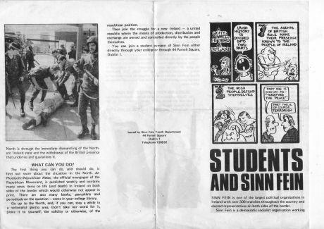 Students and Sinn Fein