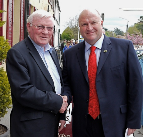 Bob Crow with Sean