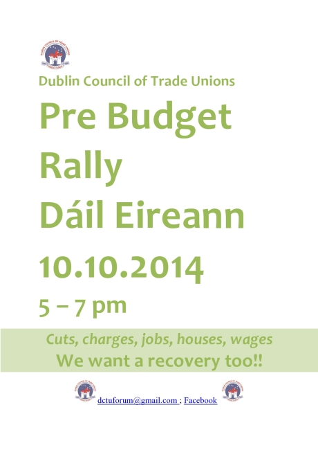 Dublin Council of Trade Unions Flyer 10-10-2014