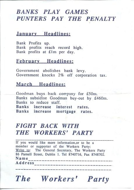 WP A5 leaflet Banks c.1990 side 2