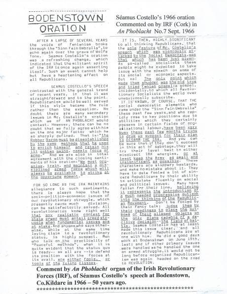Costello Oration 1966
