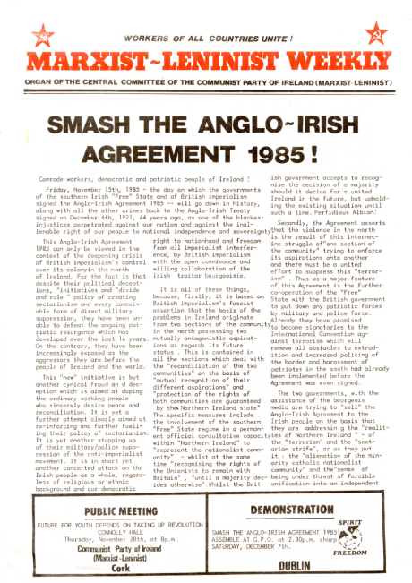 the anglo irish agreement essay Anglo irish bank corporation limited (uk branch) operates as a subsidiary of anglo irish bank corporation limited 1964 - anglo irish bank was established in dublin 1971 - anglo irish listed on the stock exchange.
